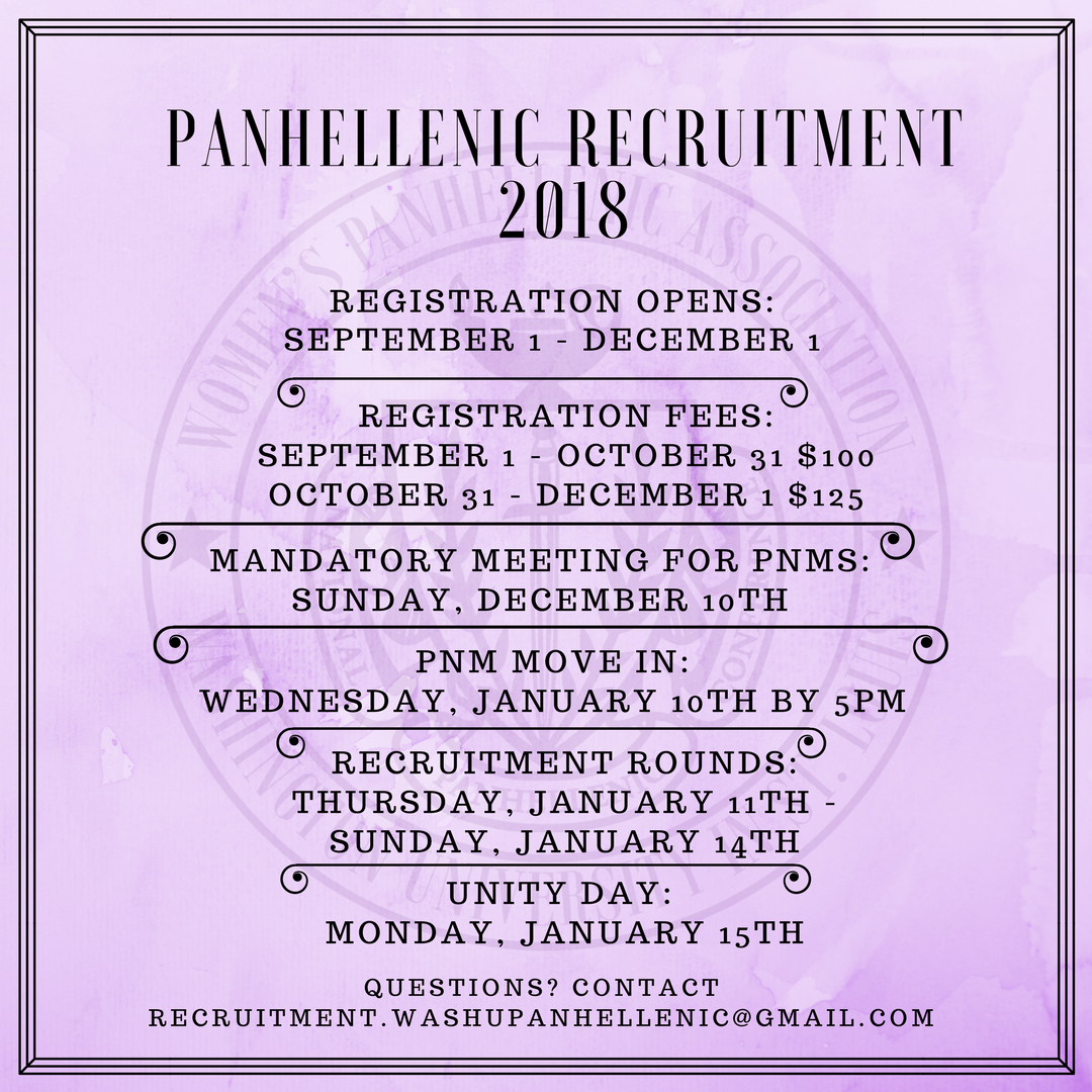 Panhellenic Recruitment