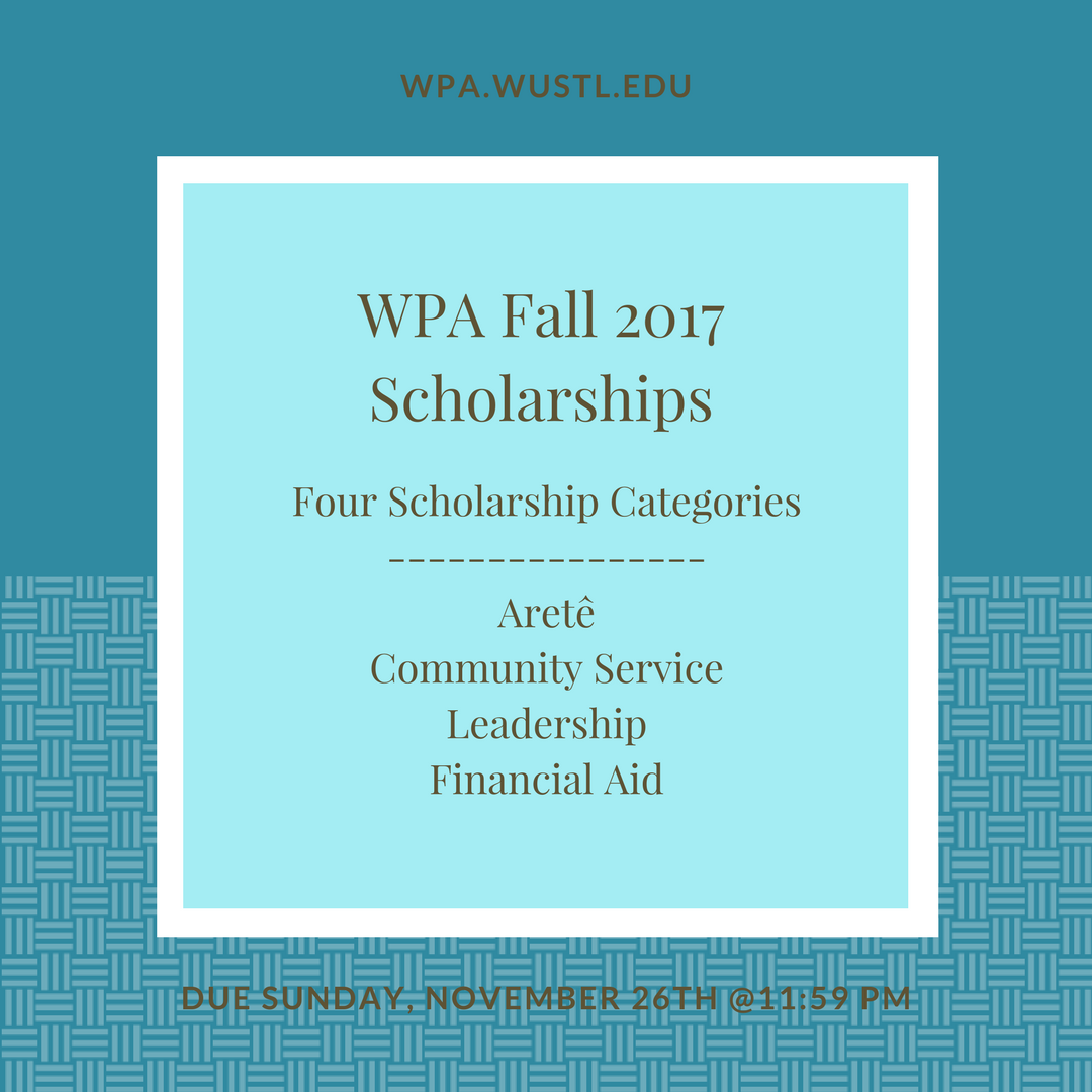 WPA Fall 2017 Scholarships