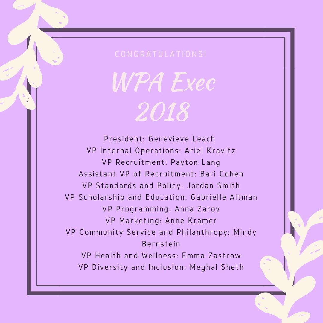 WPA exec 2018